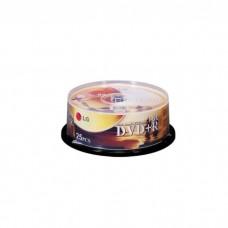 25PCS LG DVD+R/8X/CAKE BOX
